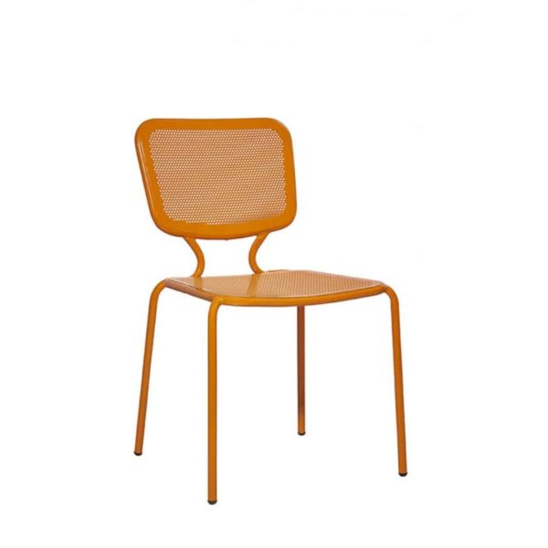 Aitra Side Chair Outside Use Stackable Orange DeFrae Contract Furniture