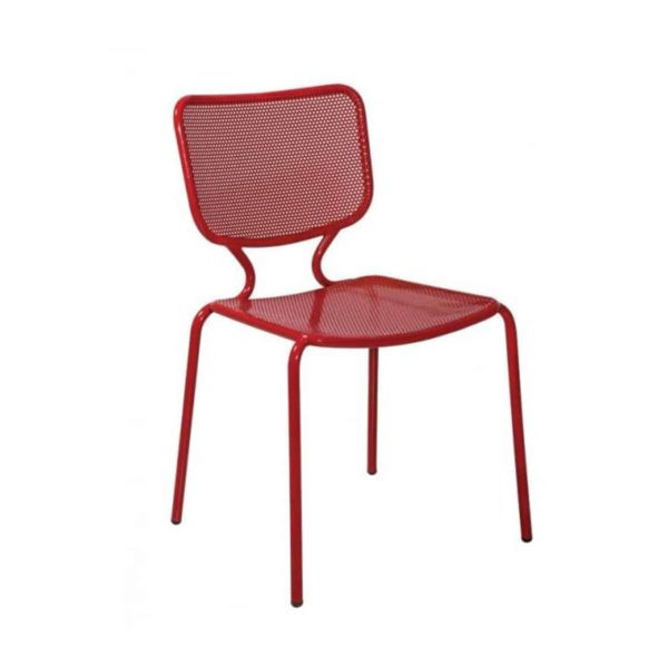 Aitra Side Chair Outside Use Stackable Red DeFrae Contract Furniture