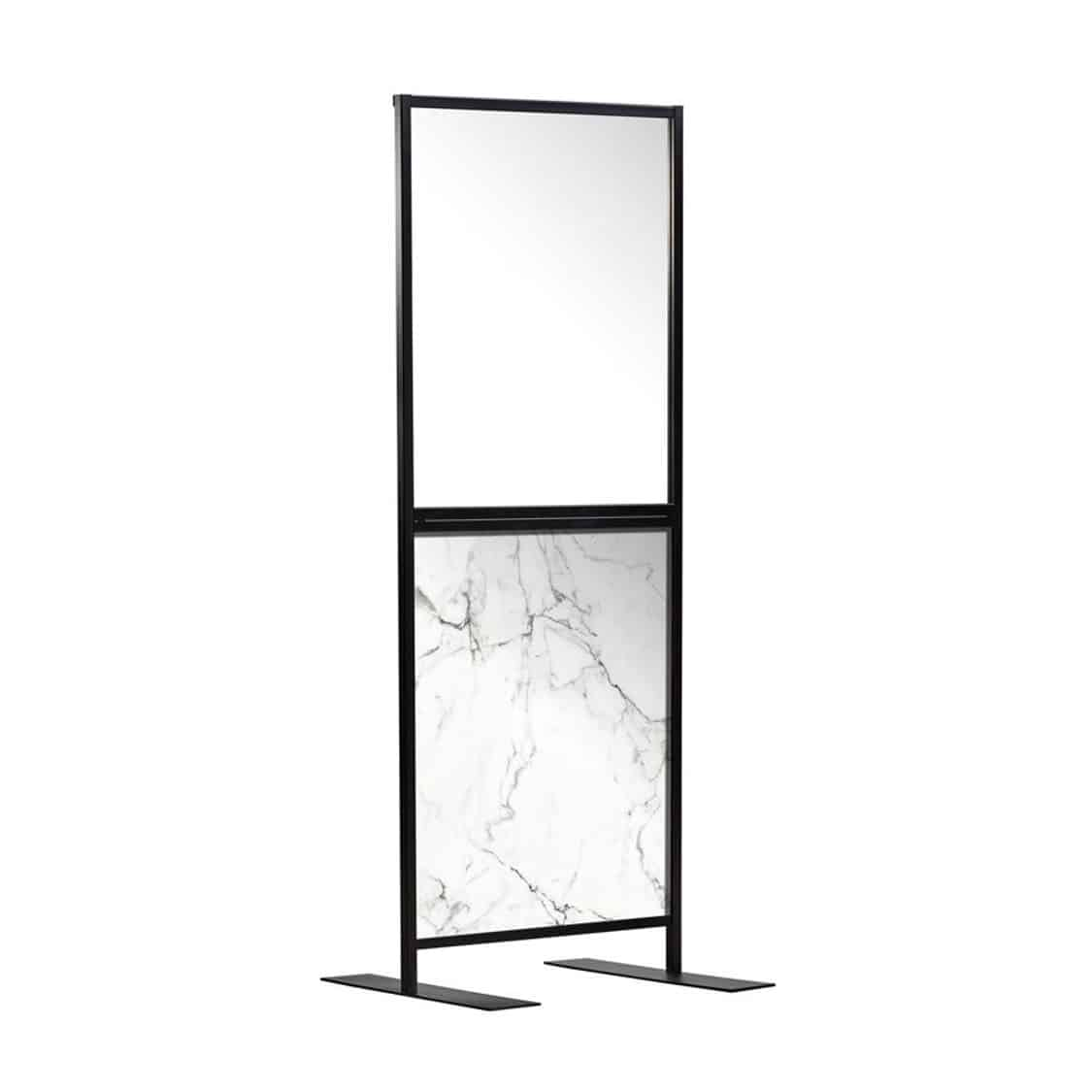Aurora Screen 750 Carrara Marble Effect Social Distancing Screen for hospitality DeFrae Contract Furniture