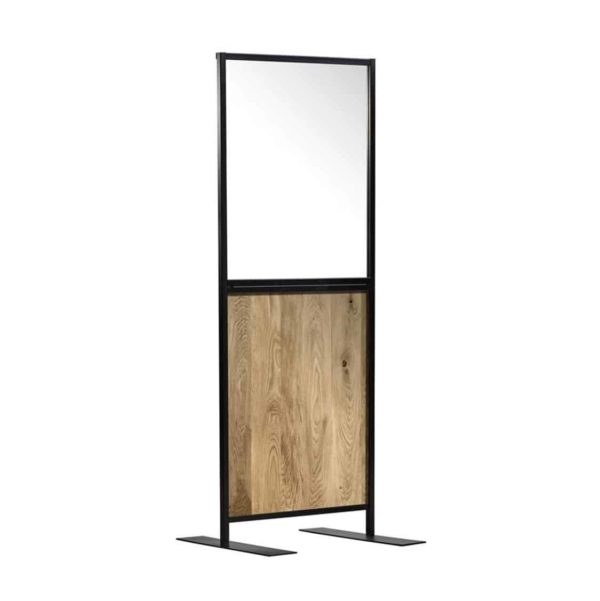 Aurora Screen 750 Character Oak Social Distancing Screen for hospitality DeFrae Contract Furniture