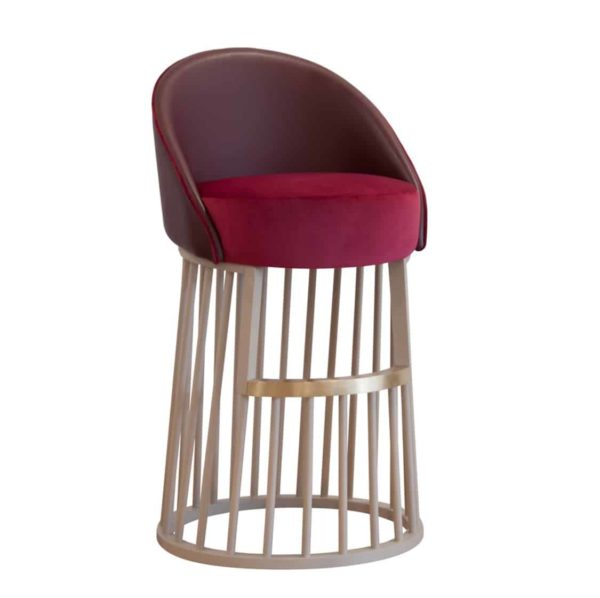 Beatrice Bar Stool Vertical Line Base DeFrae Contract Furniture