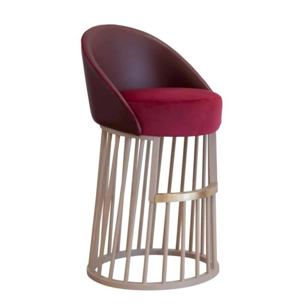 Beatrice Bar Stool Vertical Line Base DeFrae Contract Furniture Front