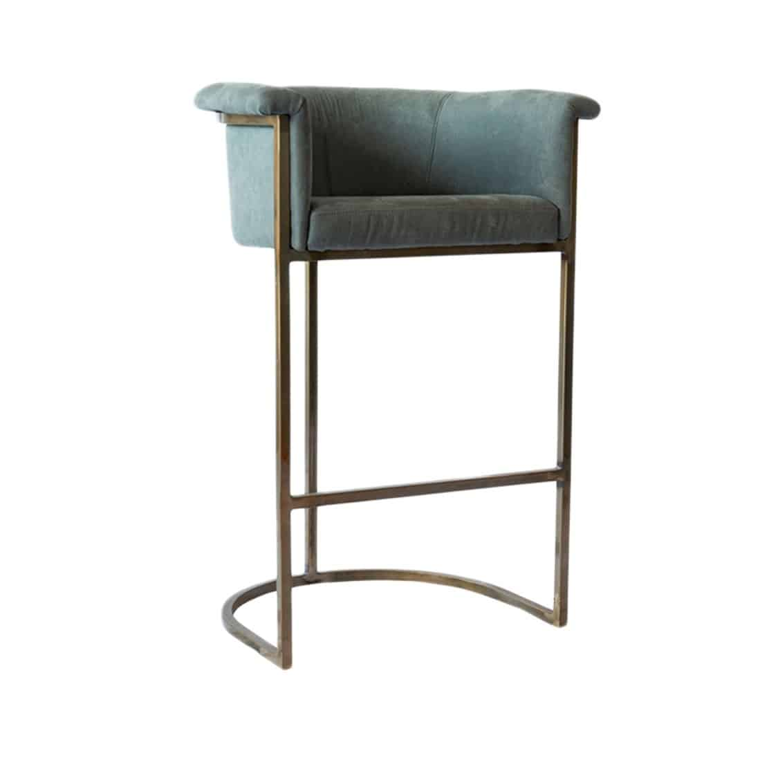 Honey Bar Stool Cantilever Base Bar Stool DeFrae Contract Furniture