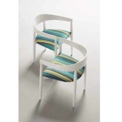 Menta Armchair DeFrae Contract Furniture White Above View