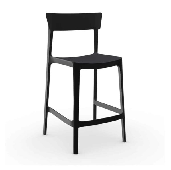 Skin Bar Stool Calligaris at DeFrae Contract Furniture Matt Black