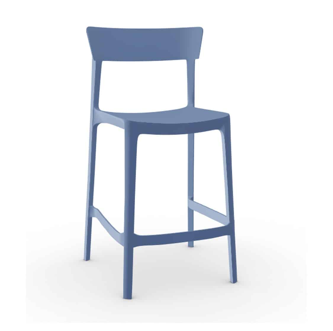Skin Bar Stool Calligaris at DeFrae Contract Furniture Matt Blue