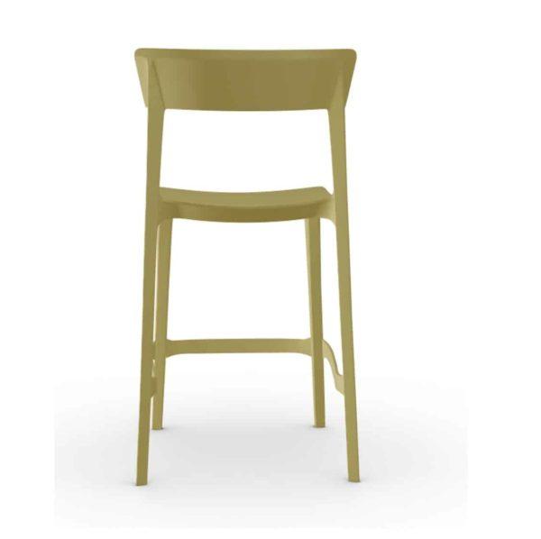 Skin Bar Stool Calligaris at DeFrae Contract Furniture Mustard Yellow