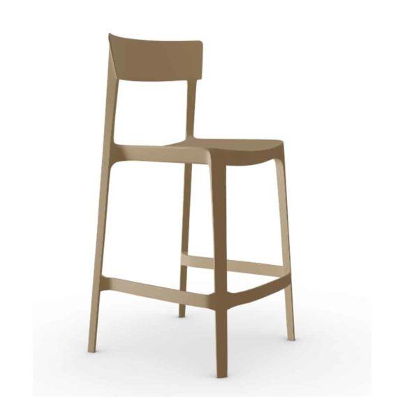 Skin Bar Stool Calligaris at DeFrae Contract Furniture Nougat