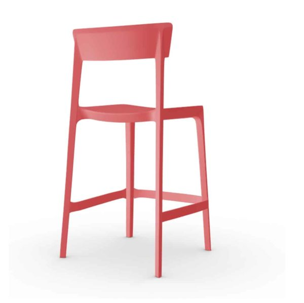 Skin Bar Stool Calligaris at DeFrae Contract Furniture Red