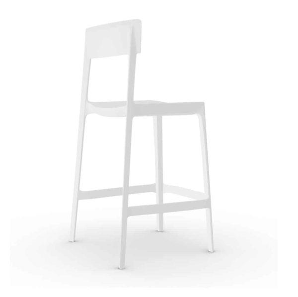 Skin Bar Stool Calligaris at DeFrae Contract Furniture White