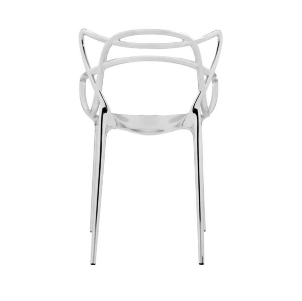 Masters Side Chair Metallic Chrome DeFrae Contract Furniture