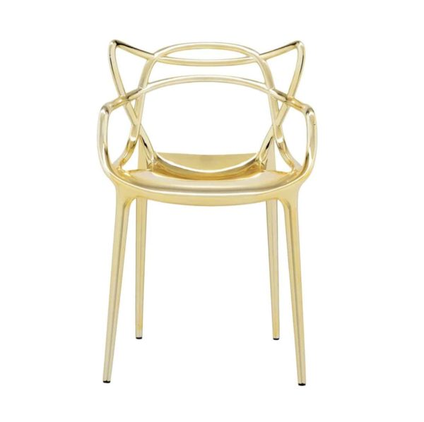 Masters Side Chair Metallic Gold DeFrae Contract Furniture