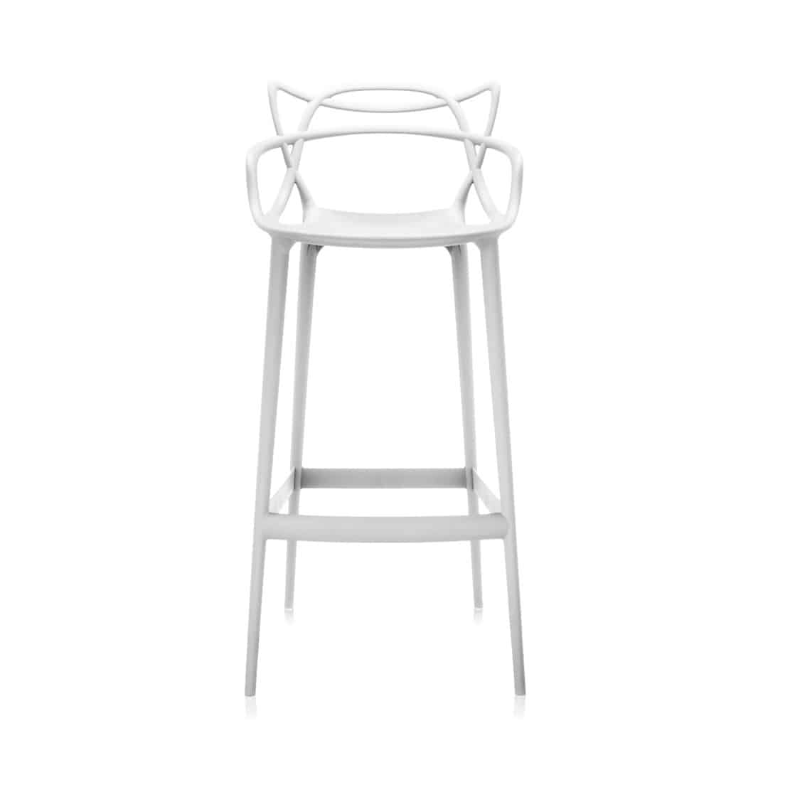 Masters Bar Stool from Kartell available at DeFrae Contract Furniture 75cms seat height White