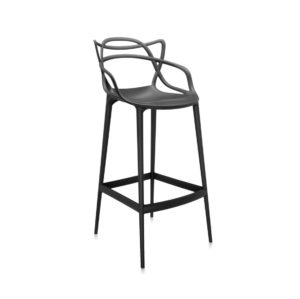 Masters Bar Stool from Kartell available at DeFrae Contract Furniture 75cms seat height black