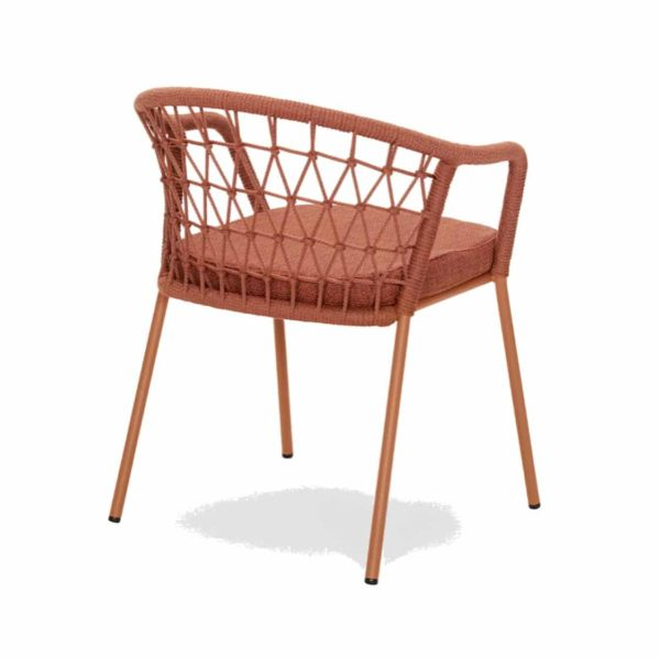 Panarea Armchair 3675 Pedrali at DeFrae Contract Furniture Red Back View]
