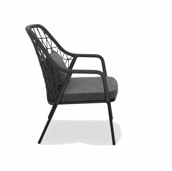 Panarea Lounge Chair 3679 Pedrali at DeFrae Contract Furniture Black Side On