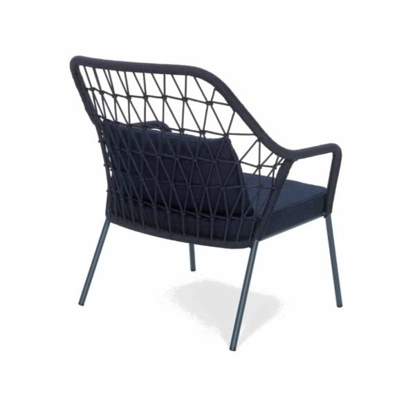 Panarea Lounge Chair 3679 Pedrali at DeFrae Contract Furniture Blue Back Side View
