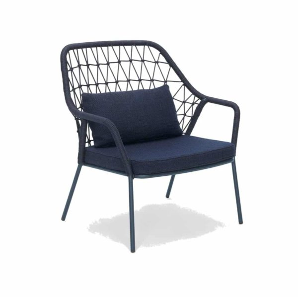 Panarea Lounge Chair 3679 Pedrali at DeFrae Contract Furniture Blue Front Side