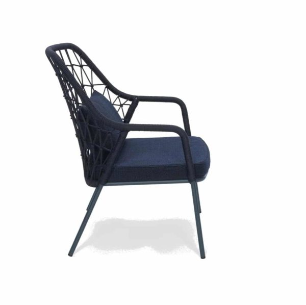 Panarea Lounge Chair 3679 Pedrali at DeFrae Contract Furniture Blue Side On