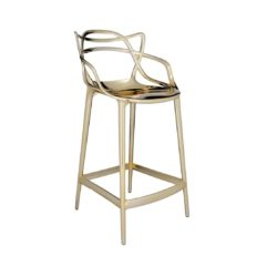 Masters Bar Stool Metallic from Kartell available at DeFrae Contract Furniture 75cms seat height Gold