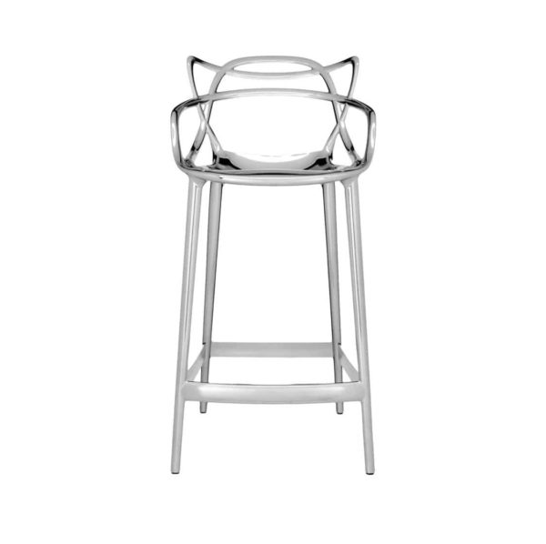 Masters Bar Stool Metallic from Kartell available at DeFrae Contract Furniture 75cms seat height chrome