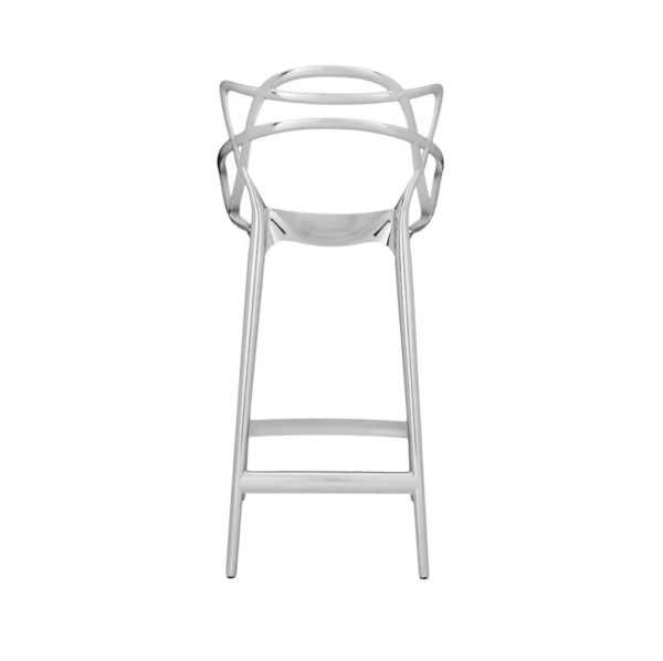 Masters Bar Stool Metallic from Kartell available at DeFrae Contract Furniture 75cms seat height chrome back