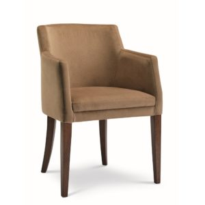Sophia armchair with classic legs at DeFrae Contract Furniture