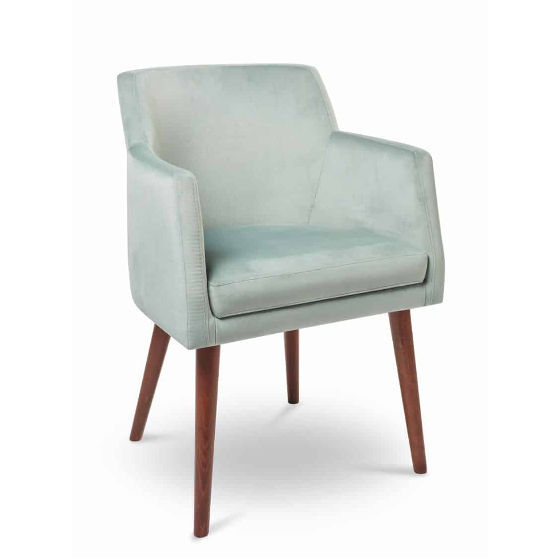 Sophia armchair with round legs at DeFrae Contract Furniture
