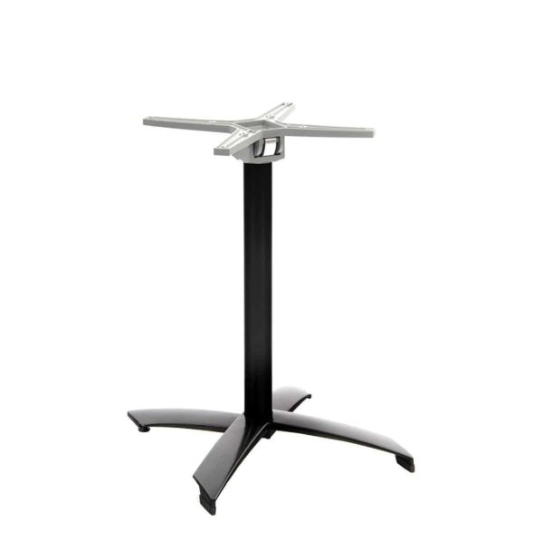 Aluminium flip top table base Black DeFrae Contract Furniture