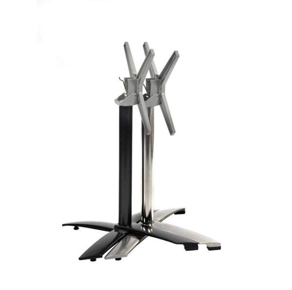 Aluminium flip top table base Black DeFrae Contract Furniture Stackable