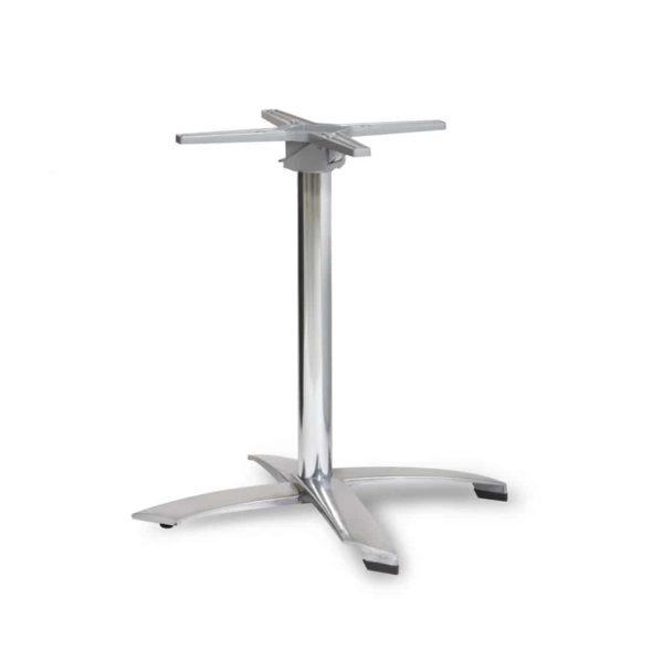 Aluminium flip top table base DeFrae Contract Furniture