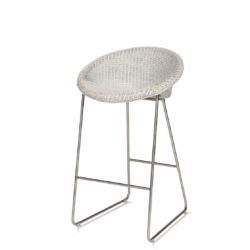 Joe counter stool Vincent Sheppard at DeFrae Contract Furniture with sled base Snow and black frame