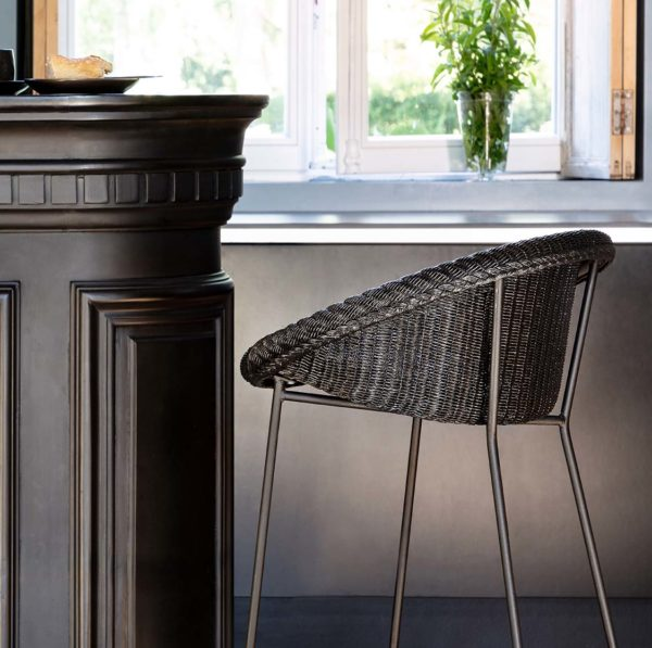 Joe counter stool Vincent Sheppard at DeFrae Contract Furniture with sled base close up