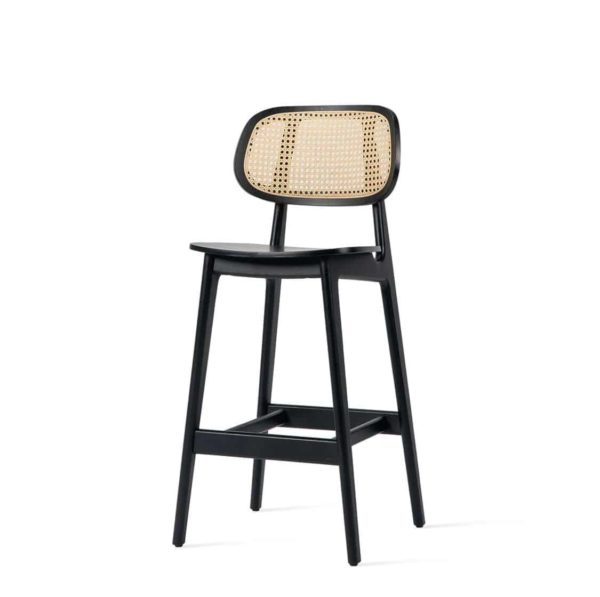Titus counter stool Vincent Sheppard at DeFrae Contract Furniture Cane Seat and Back side on