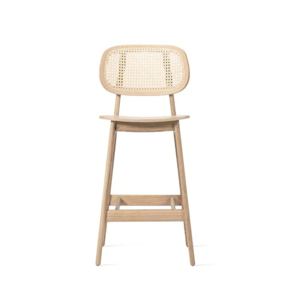 Titus counter stool Vincent Sheppard at DeFrae Contract Furniture natural Cane Seat and Back