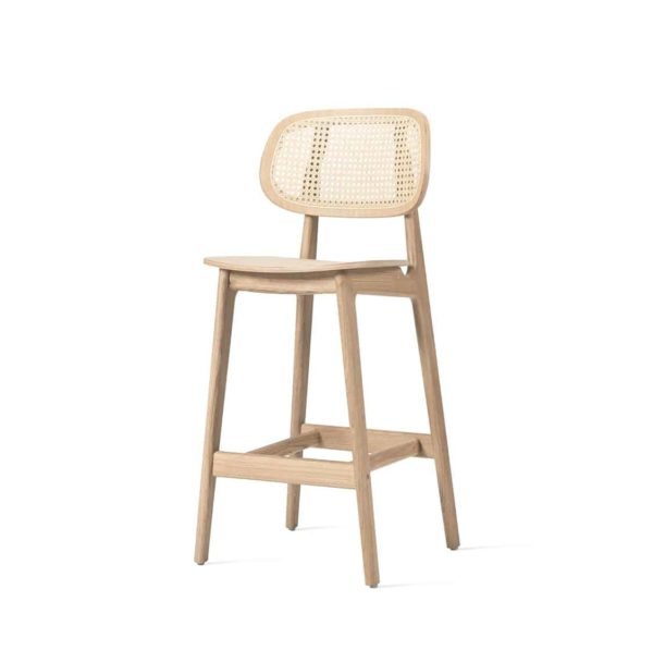 Titus counter stool Vincent Sheppard at DeFrae Contract Furniture natural Cane Seat and Back side on