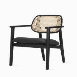 Titus lounge chair Vincent Sheppard at DeFrae Contract Furniture black frame and cane back