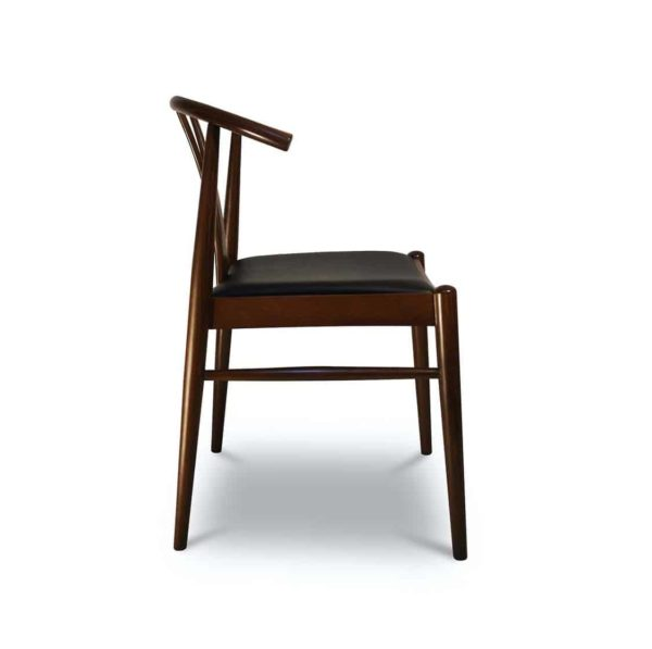 Cervia S side chair DeFrae Contract Furniture Side View