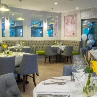 Cortana Side Chairs by DeFrae Contract Furniture at Mediterranevm Restaurant and Bar Bray 3