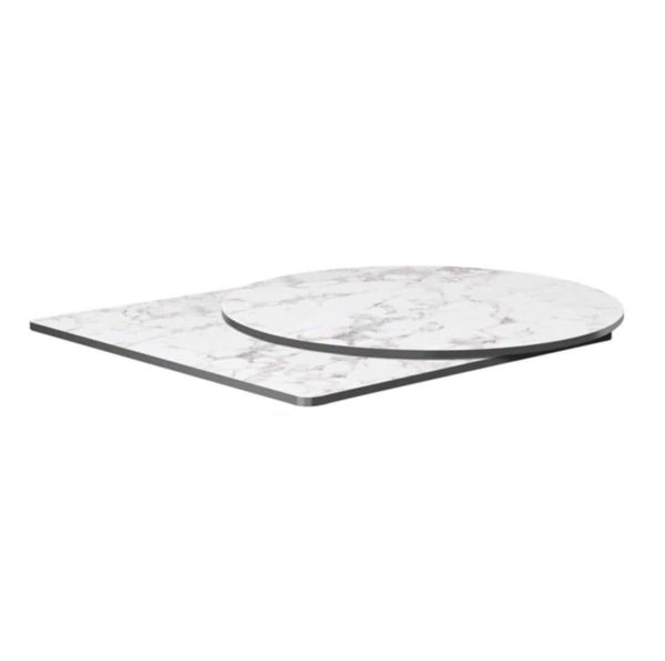 Extrema Carerra Marble Effect Outdoor Tabletops DeFrae Contract Furniture