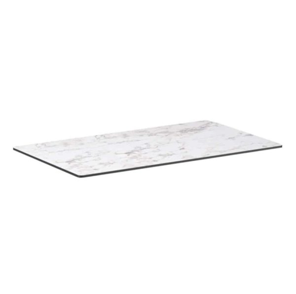 Extrema Carerra Marble Effect Outdoor Tabletops DeFrae Contract Furniture Rectangular