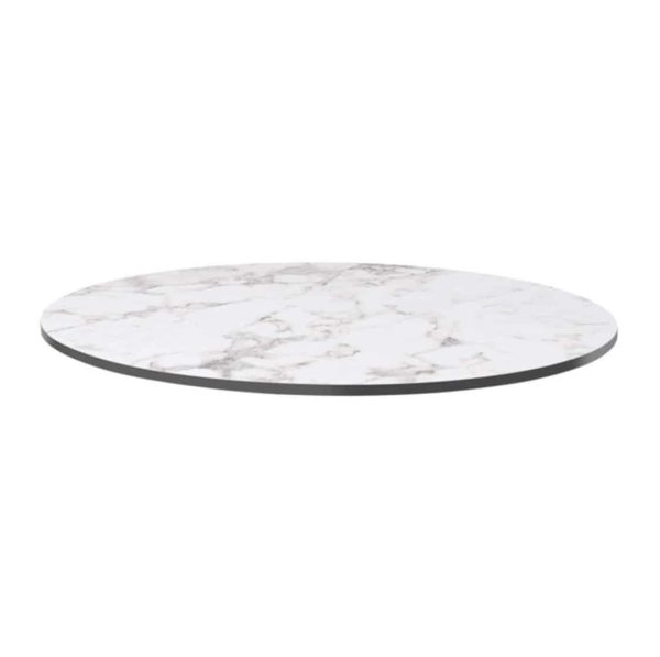 Extrema Carerra Marble Effect Outdoor Tabletops DeFrae Contract Furniture Round
