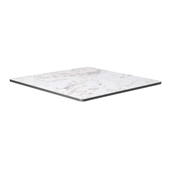 Extrema Carerra Marble Effect Outdoor Tabletops DeFrae Contract Furniture Square