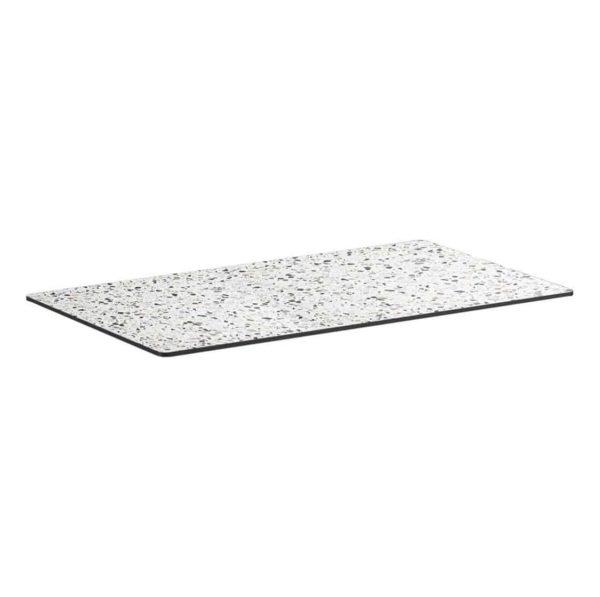 Extrema Mixed Terrazzo Effect Outdoor Tabletops DeFrae Contract Furniture Rectangular