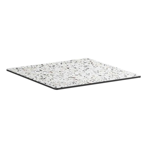 Extrema Mixed Terrazzo Effect Outdoor Tabletops DeFrae Contract Furniture Square