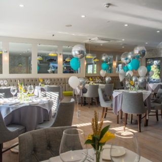 Cortana Side Chairs by DeFrae Contract Furniture at Mediterranevm Restaurant and Bar Bray 2
