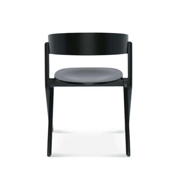 Signa Side Chair Curved Back DeFrae Contract Furniture Back View
