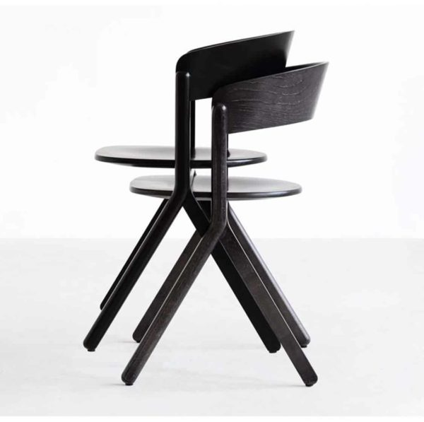Signa Side Chair Curved Back DeFrae Contract Furniture Stackable