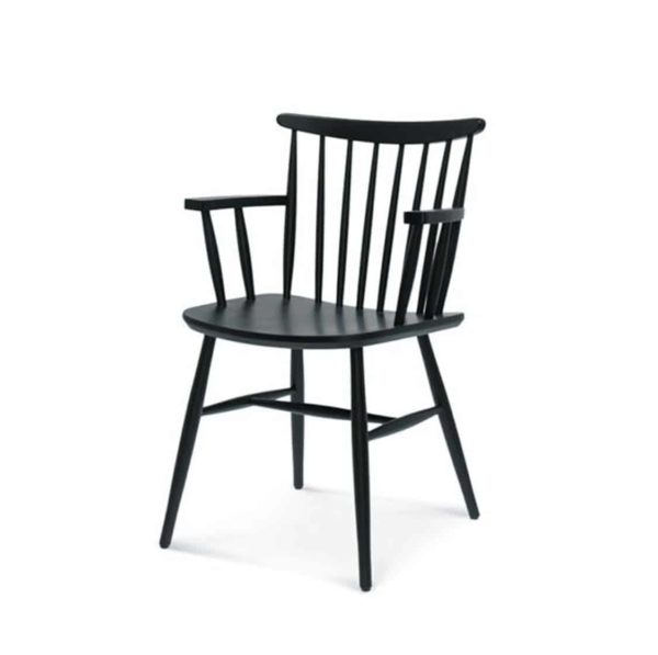 Wand Armchair Spindle Back DeFrae Contract Furniture Black