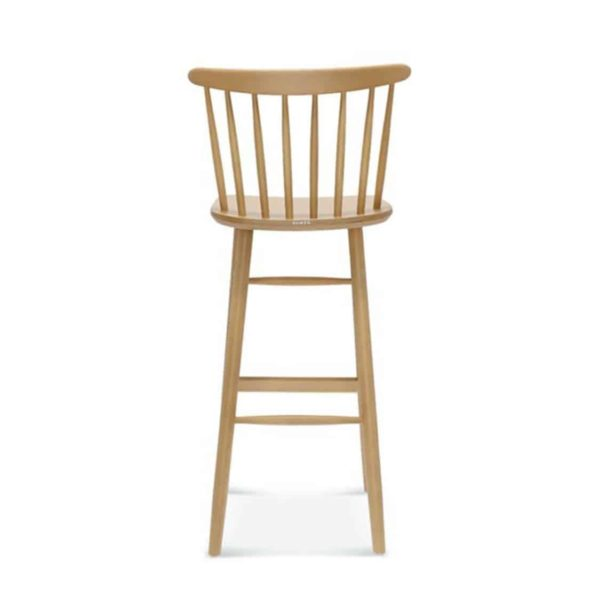 Wand Bar Stool Spindle Back DeFrae Contract Furniture Back View